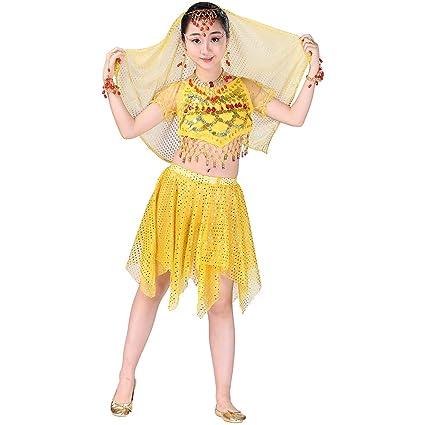 Magogo Vestido de Danza del Vientre para niñas, Disfraz de ...