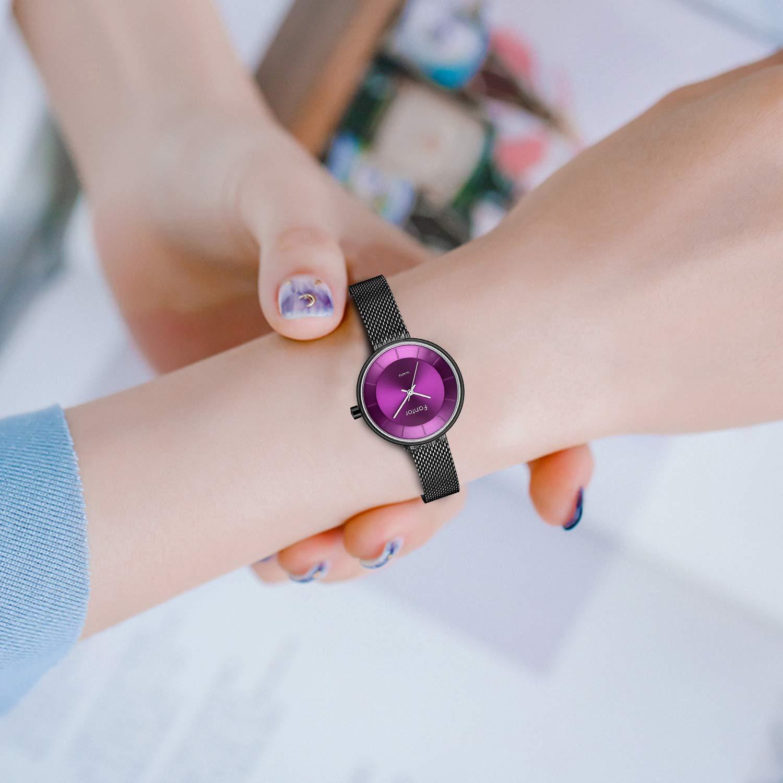 Women Watch Elegant Fashion Luxury Small Wristwatch Ladies Dress Waterproof Gold Mesh Quartz Watch for Women