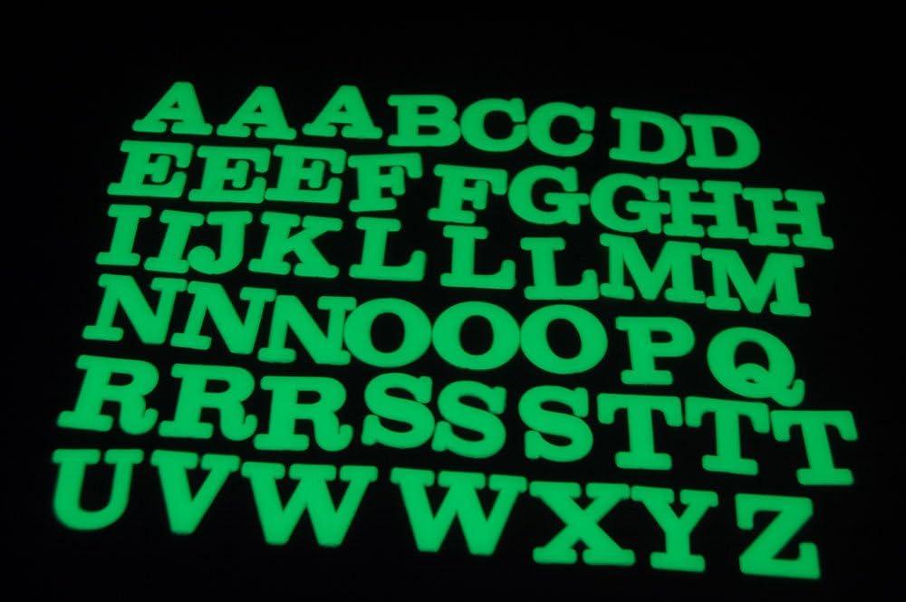 DirectGlow 50 Piece Glow in The Dark Alphabet Letter Set Wall Ceiling Decor