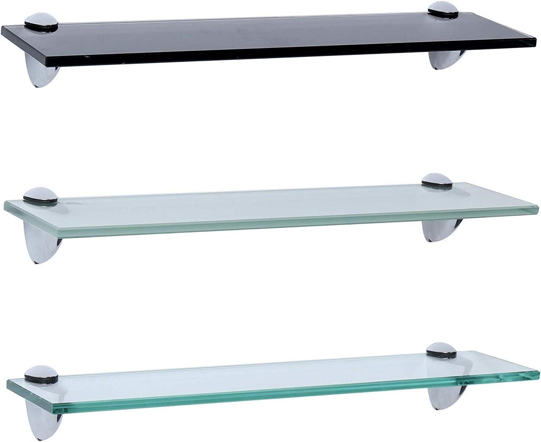 Glasregal // Glasboden Klarglas Wandregal 8mm 90cm x 15cm Glasstärken 6mm u