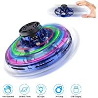 Winkeyes Hand Controlled Mini UFO Drone for Kids & Adults, Flying Toys with 360° Rotating and Shinning LED Lights, Flying Ball Drone Toy for Boys or Girls, Age 3+ (Blue)