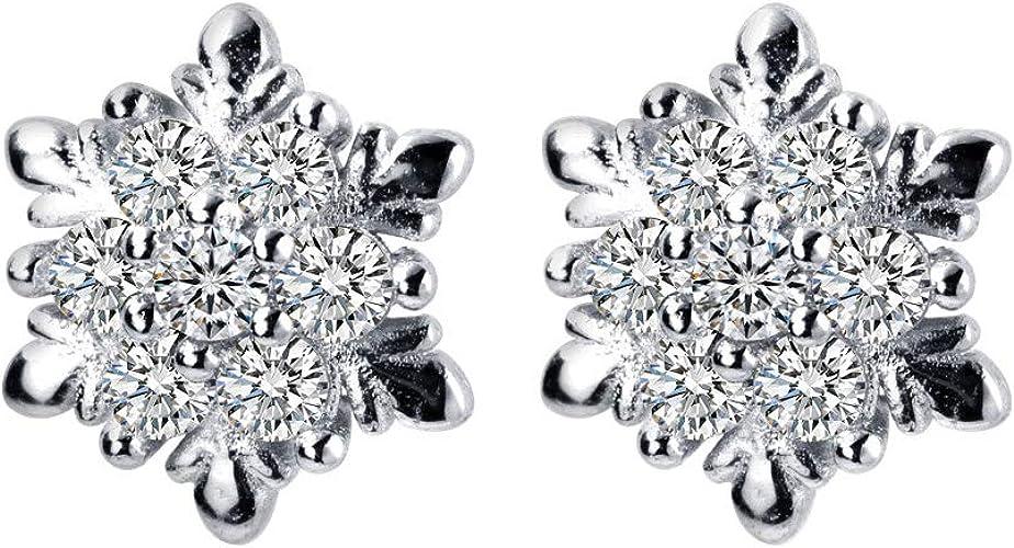 HYPOALLERGENIC Stud Earrings  Swarovski Elements  Silver Black with Rhinestones