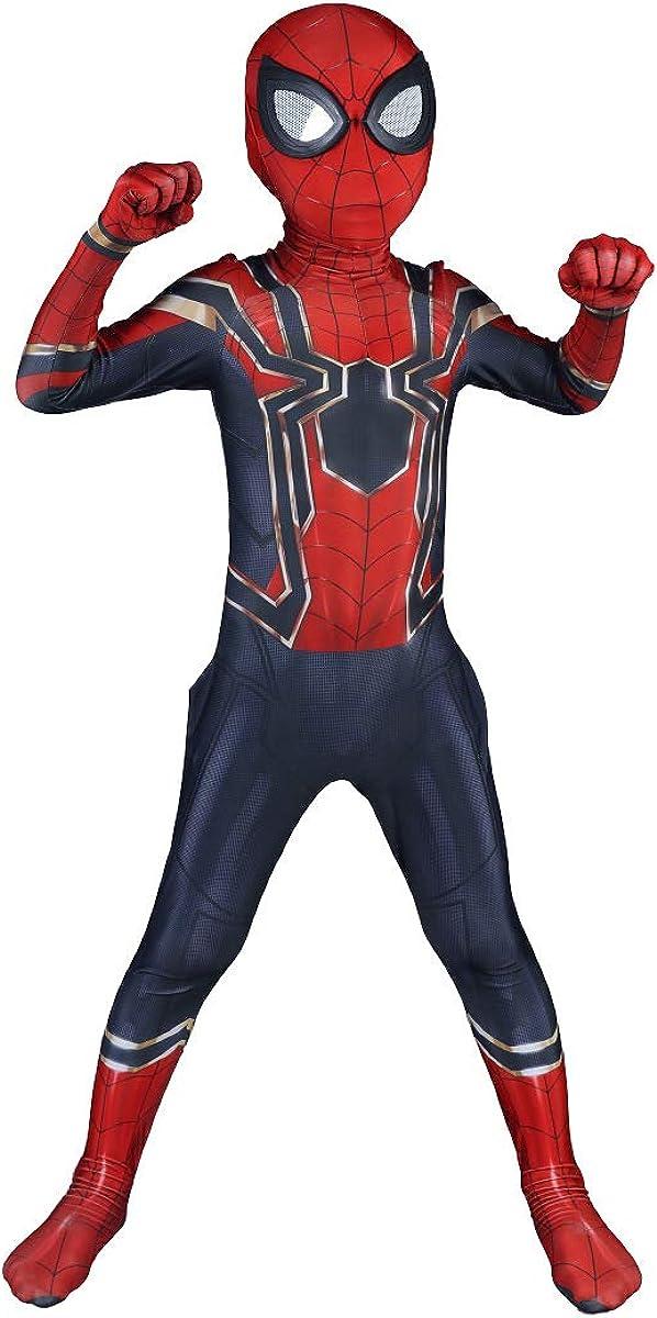 Amazon.com: Riekinc Disfraz de superhéroe para niños, licra ...