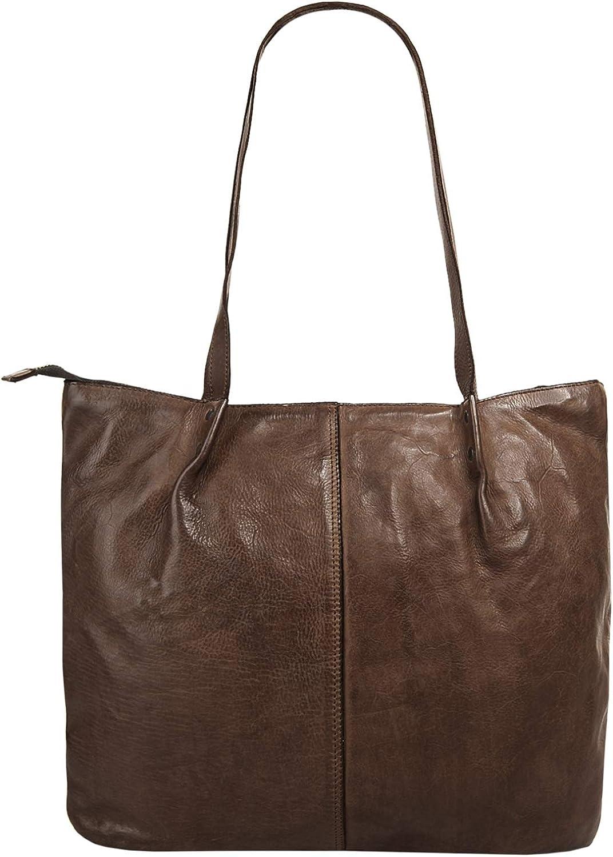 Harold's Sac shopping Submarine Femme cuir véritable Brun