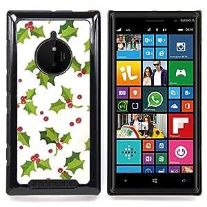 - mistletoe Christmas winter white green - - Modelo de la piel protectora de la cubierta del caso FOR Nokia Lumia 830 RetroCandy