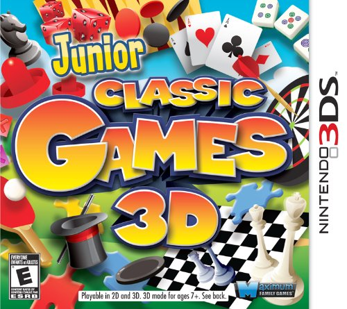 Junior Classic Games 3D - Nintendo 3DS (For Chess Nintendo Game 3ds)
