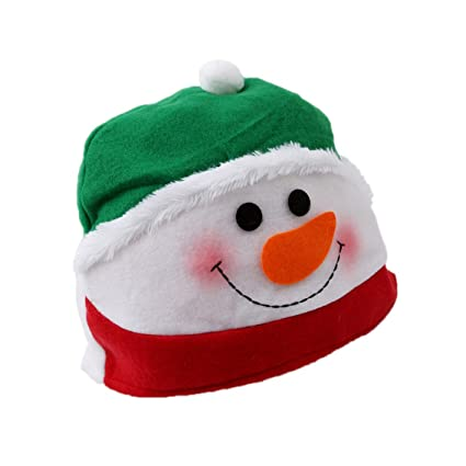 51fc60f4f75d8 Yesiidor Snowman Hat Christmas Novelty Hats For Adult  Amazon.co.uk ...