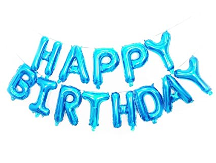 Happy Birthday Foil Balloons Letters Balloon Blue