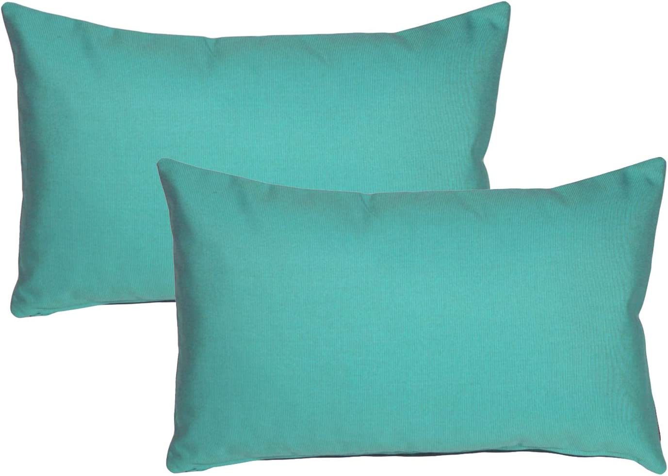 Pillow Décor Sunbrella Outdoor Pillow Aruba Turquoise 12 X19 Set Of 2 Inserts Included Kitchen Dining