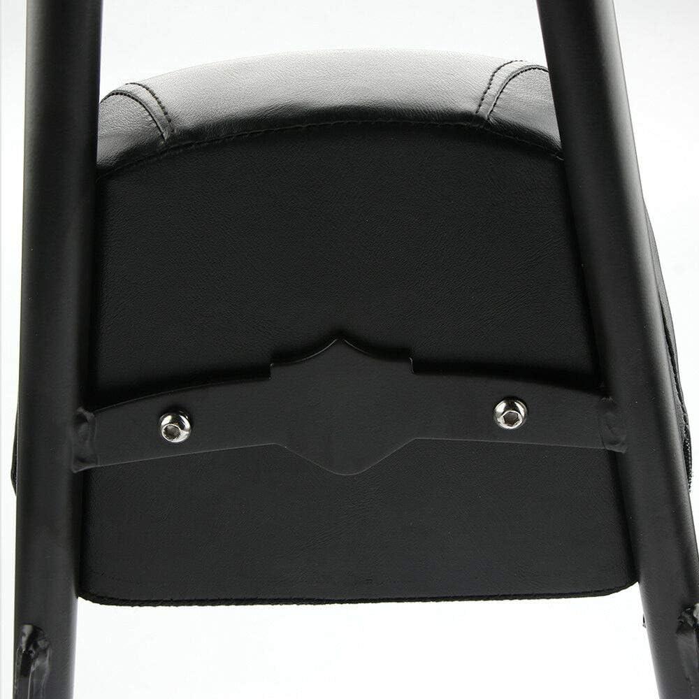 MeterMall Accessoires pour Coussin de Coussin de Sissy Bar de Dossier Passager de Moto pour Harley Sportster XL883 1200 48 04-15 Noir