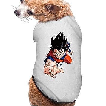 Dragon Ball Z Goku lindo perro camiseta mascota ropa: Amazon ...