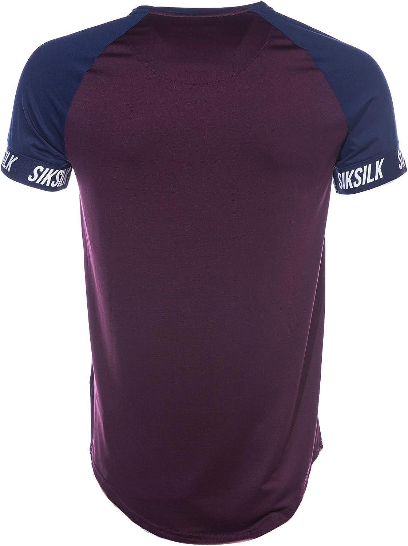 Sik Silk Hombre Camiseta Raglan Tech, Azul, Small: Amazon.es: Ropa ...