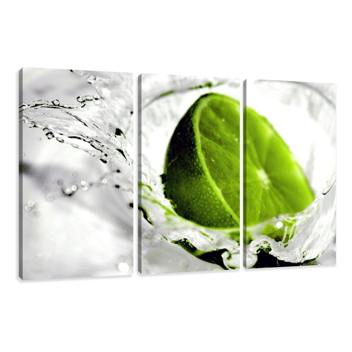 Amazon.de: Visario Leinwandbilder 1131 Bild auf Leinwand Lime, 160 x ...