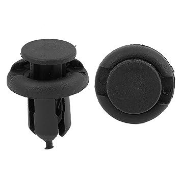 sourcingmap Negro Remaches de Coche Puerta Embellecedores 20mm Grapa 9mm Agujero: Amazon.es: Bricolaje y herramientas