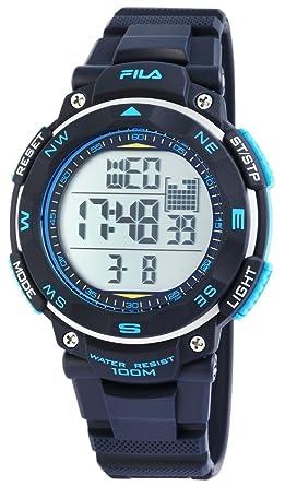 FILA Herren Digital Quarz Uhr mit Silikon Armband 38-824-002: Amazon ...