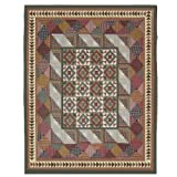Patch Magic Twin Country Roads Quilt, 65-Inch by 85-Inch