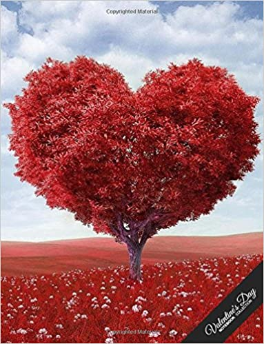 Valentine S Day Notebook Collection Heart Tree Journal Diary Wide