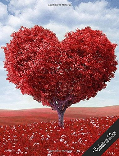 Valentine's Day Notebook Collection: Heart Tree, Journal/Diary, Wide Ruled, 100 Pages, 8.5 x 11