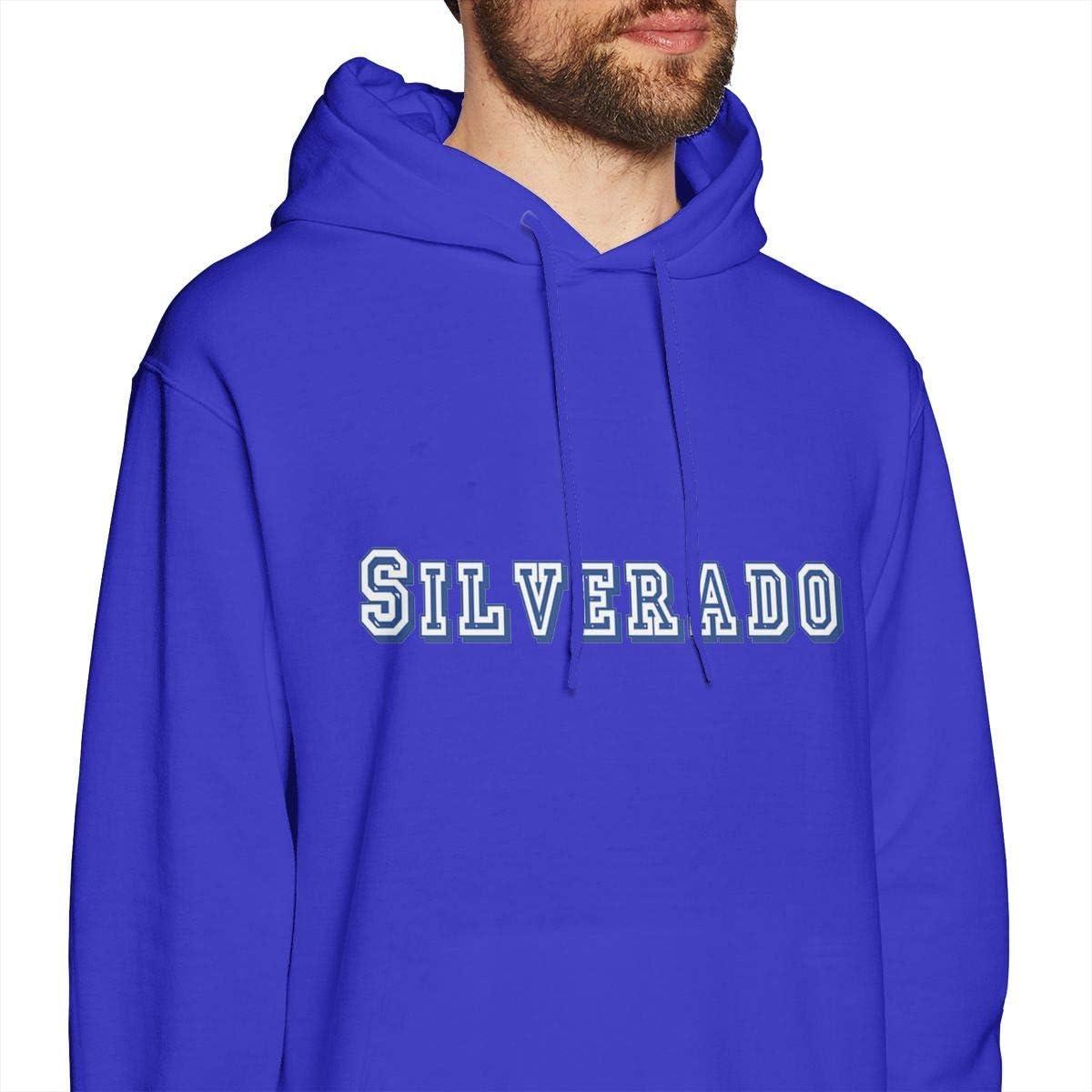 Ch-evr-olet Silverado Logo Mens Hoodies Pullover Hooded Sweatshirt Jackets Blue