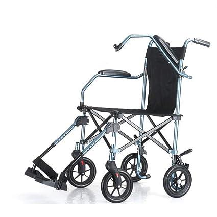 Silla de ruedas Plegable Ultraligera Portátil De Viaje para ...