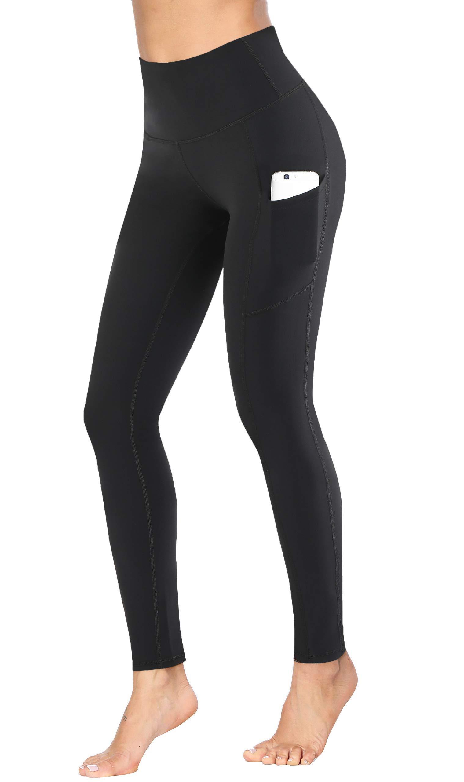 Fengbay High Waist Yoga Pants, Pocket Yoga Pants Tummy Control Workout Running 4 Way Stretch Yoga Leggings Leggings Black by Fengbay