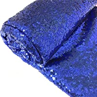 TRLYC 4FTX16FT Royal Blue Sequin Aisle Floor Runners for Wedding Ceremony Decor
