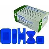 Safety First Aid D7010HypaPlast Paquet de 100pansements de tailles assorties pour travail en cuisine Bleu