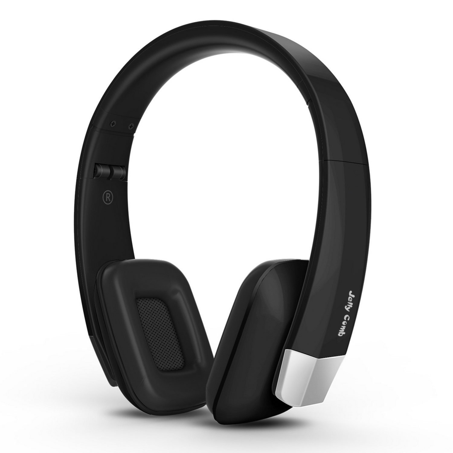 Wireless TV Headphones, Jelly Comb Wireless RF Over-Ear Stereo Headphones Headset Earphone with Transmitter for TV, Cellphone, Laptop, PC - Black and Silver