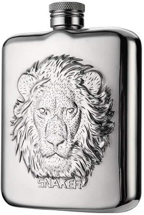 LI FANG フラスコ、6オズミニケトル、304ステンレス鋼、ハイエンドポータブルアルコール飲料缶男性と女性、サイズに適した8.7 * 2.2 * 12.2 Cmを、シルバー6オンス (Color : Silver, Size : 8.7*2.2*12.2cm)