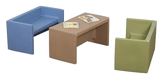 Groovy Amazon Com Childrens Factory Woodland Adapta Benches Set Creativecarmelina Interior Chair Design Creativecarmelinacom