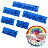 Lychee Words Cake Mold 6 Pcs Cake Letter Printed Stamp DIY Case Handmade Tool Fashion New