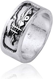 Skyrim Alba Mountain Barca a Vela Stile Gotico amuleto Rune Punk Men Wedding Rings (Formato 7.5)