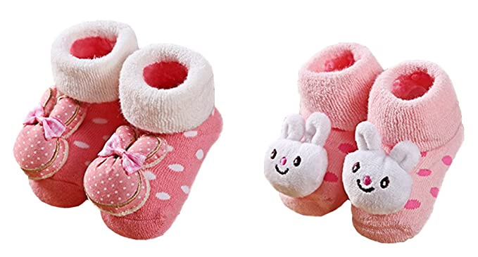 Scothen 2 Par 0-18 Meses Infantil Bebés y Niñas Unisex Calcetines de Pie  para 090f994c29e