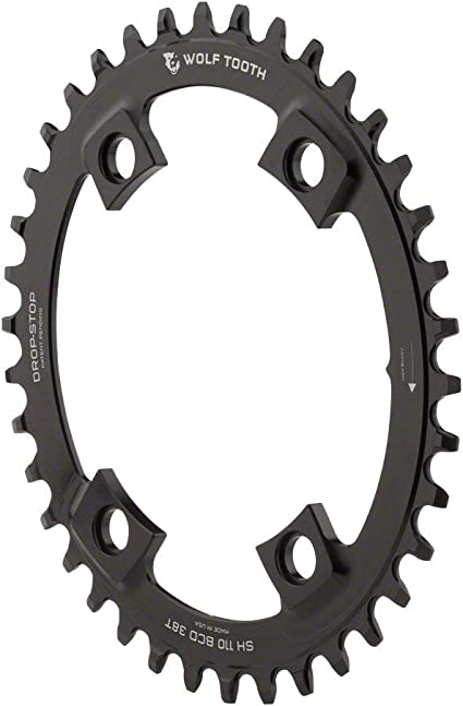 New Wolf Tooth 34t 104BCD Drop-Stop Chainring 11 Black 1 x 10