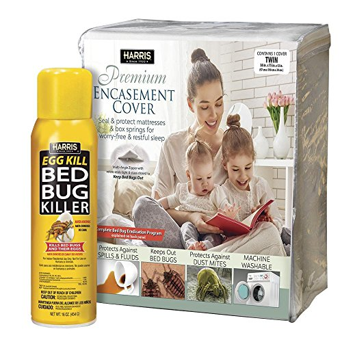 (Harris Twin Bed Bug Mattress Cover and Bed Bug Spray - Value)