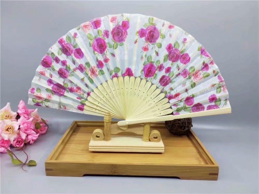 RICISUNG Blossom Fächer japanischen Faltbare Handfächer Klappfächer Hochzeit Dekor