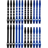 Wolftop 2BA Thread Aluminum Dart Shafts 24 Pack with Rubber O-Rings