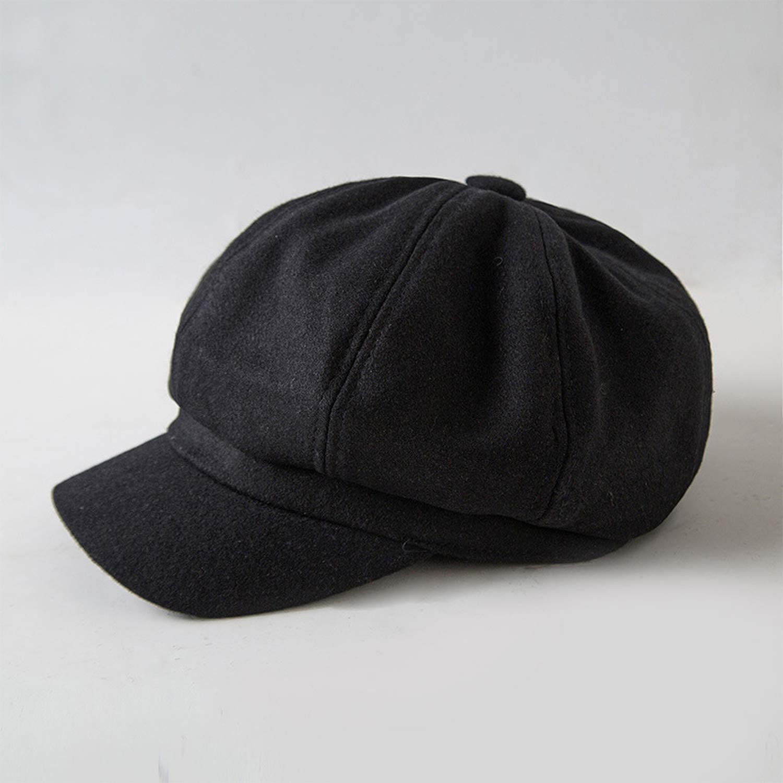 2018 New Women Wool Octagonal Hats Female Solid Color Visor caps Thick Warm Winter Hats Berets