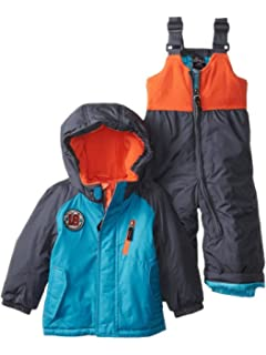 6296039a9 Amazon.com  ZeroXposur Infant   Toddler Boys Black Snow Bibs   Coat ...