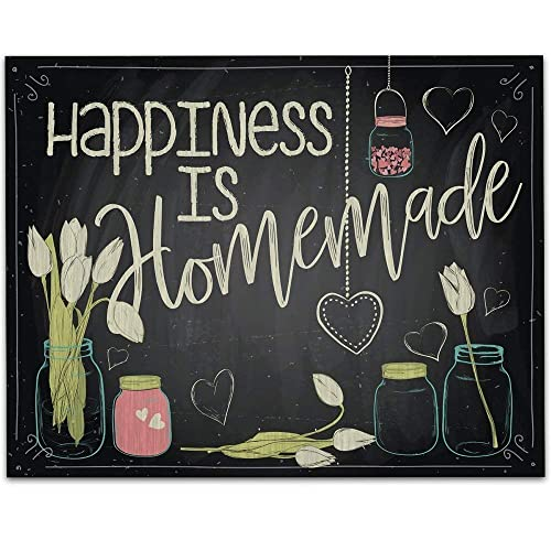 image about Happiness is Homemade named Joy is Handmade - 11x14 Unframed Typography Artwork Prints - Fantastic Kitchen area and Eating House Decor Below $15