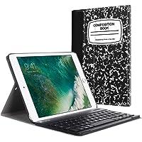 Fintie Bluetooth Tastatur Hülle für iPad 9.7 Zoll 2018 2017 / iPad Air 2 / iPad Air - Ultradünn leicht Ständer Keyboard Case mit magnetisch Abnehmbarer drahtloser Deutscher Tastatur, Notizblock