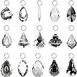 SunAngel Clear Jewelry Crystals Pendants &Chandelier Lamp Lighting Drops Prisms Hanging Glass Prisms Parts Suncatchers…