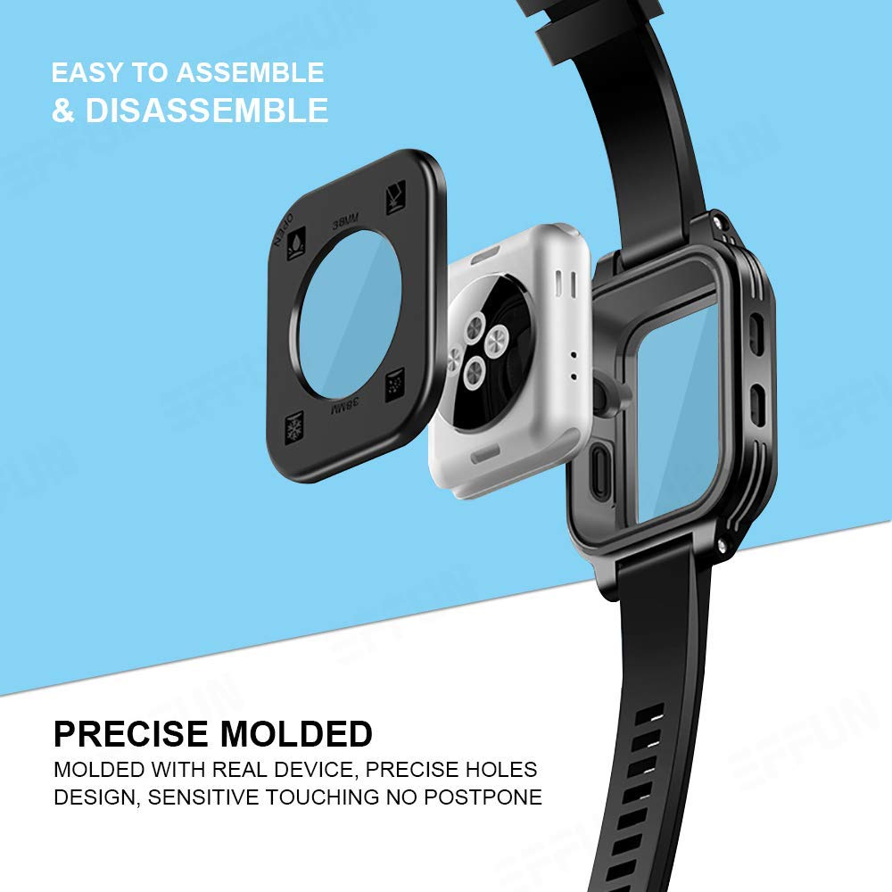 new product 69676 94d44 Apple Watch Waterproof Case for 38mm Apple Watch Series 3 & 2, EFFUN ...