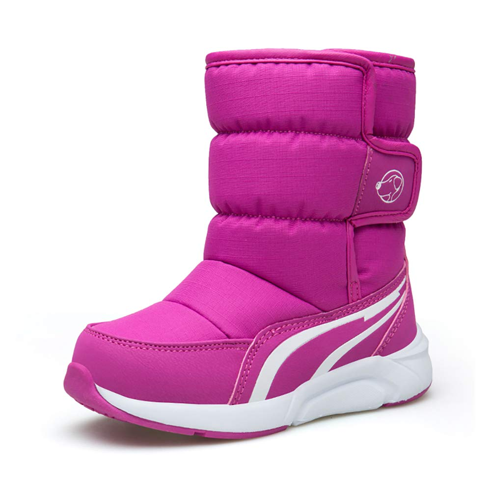 Purple, Black, Navy Blue Girls Boys Outdoor Waterproof Winter Snow Boots Toddler Kids Warm Non Slip
