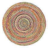 Green Decore Handmade Braided Round Natural Fiber Jute Rug (Fusion Multicolor, 5 feet Diameter) Review