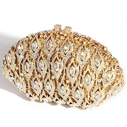 Crystal Clutch Purses Rhinestone Wings women Big Digabi Gold Bags Evening npqBf7WH