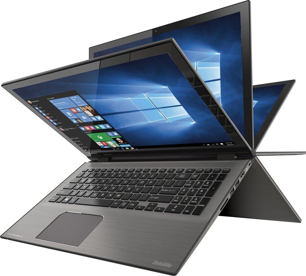 "Toshiba - Satellite Radius 2-in-1 15.6"" 4K Ultra HD Touch-Screen Laptop - Intel Core i7 - 8GB Memory - 1TB Hard Drive - Carbon Gray"