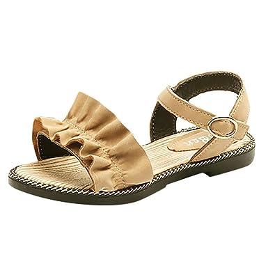 0f66ace5c9c4a GongzhuMM Sandales Bébé Fille 26-36 Été Chaussures Enfant Fille  Décontractée Ruffles Chaussures de