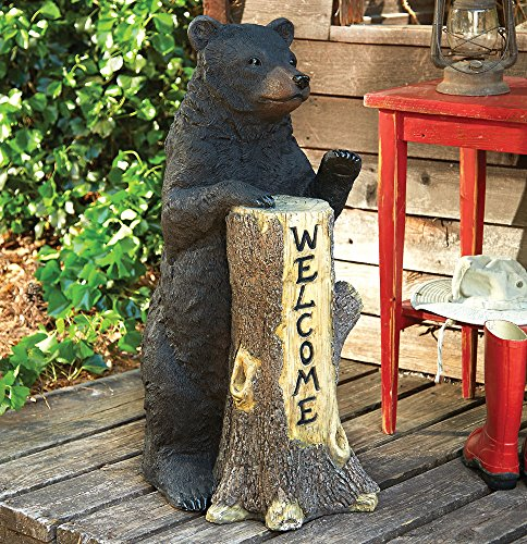 Standing Bear Welcome Tree Trunk - Wilderness Decor