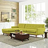 Modway Engage Left-Facing Sectional Sofa, Wheat